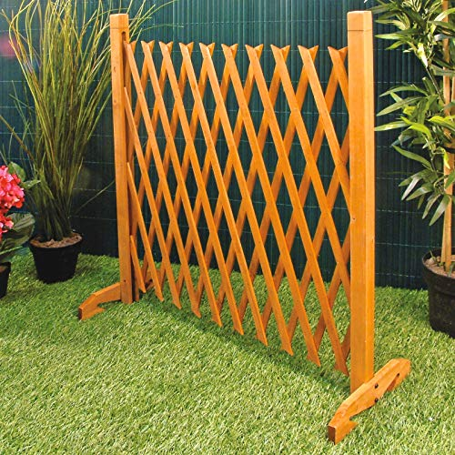 Burwells Expanding Fence Garden Screen Trellis Style Expands to 6'2' Freestanding Wood