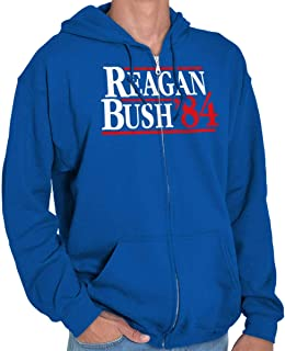 Brisco Brands Ronald Reagan George Bush 84 Election POTUS Zip Hoodie