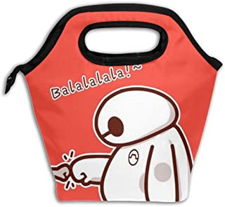 Insulated Lunch Bag Cute Baymax Printed, Thermal Or Refrigerated Reusable Lunch Tote For Work School Picnic