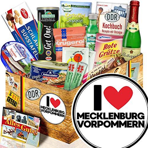 I Love Mecklenburg-Vorpommern / Geschenkset Stadt / Nostalgieset Spezialitäten