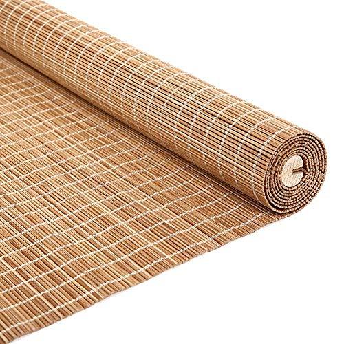 LY88 Persianas enrollables de Madera para Interiores con Gancho, persianas enrollables de bambú para Interiores para Ventanas de balcón y Dormitorio, 80/100/120/130/140 cm de Ancho (tamaño: 130 y