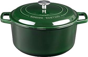 EDGING CASTING Enameled Cast Iron Dutch Oven, 7.5-Quart, Green