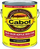 Cabot/Valspar 1837-07 Solid Color Acrylic Deck Stain Cordovan Brown - Gallon - Quantity 4