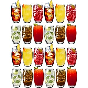 Argon Tableware Tondo Water / Juice Hiball Glasses - Party Pack Of 24 Glasses - 510ml (18oz)