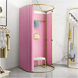 GDMING Clothing Store Fitting Room, Foldable Simple Dressing Room, Landing Display Rack, Locker Room Curtain, Changing Roo...