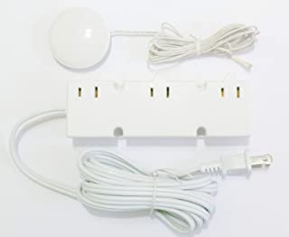 HC Lighting - 3 Level Touch Dimmer with 3 plug in receptacles 200 Watt Maximum 120 Volt Input (White)