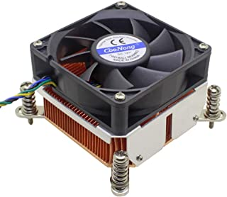 2U Server CPU Cooler Copper Skiving Heatsink Cooling Fan for Intel Xeon LGA 1150 1151 1155 1156 Industrial Computer Cooling
