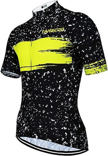 SUUKAA Maillot Cyclisme Homme, Manche Courte Tenue Maillot T-Shirt Cycliste Respirant Séchage Rapid Vélo