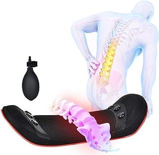 Masajeador de espalda con calor, Almohada de masaje con almohadillas térmicas ergonómicas para el dolor de espalda, Masajeador de espalda Shiatsu, Cintura calefactora con masajeador de percusión