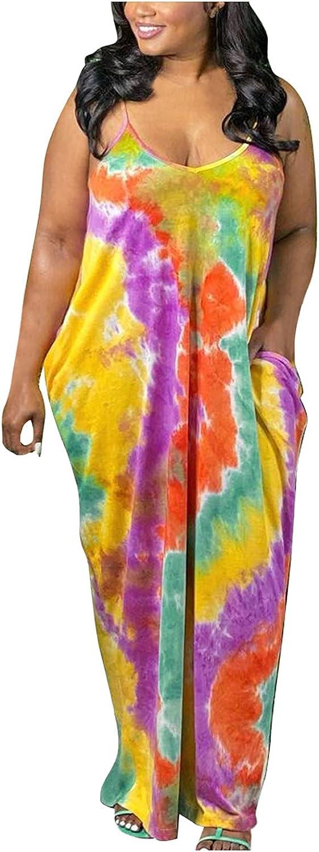 Women Summer Tie-Dye Fashionable Maxi Long Sleeveless 100% quality warranty! Dresses Loose Backless