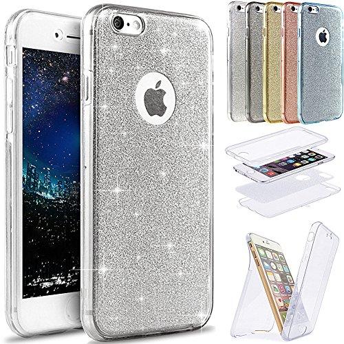 iPhone 7 Plus caso,[360 de cuerpo entero cobertura protección] cristal transparente ultrafina...