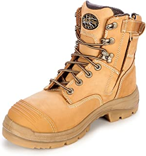 Oliver AT's 55332z Men's Work Boots. Steel Cap Safety, Side Zip.
