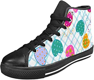 INTERESTPRINT Womens Casual High Top Canvas Flat Shoes (US6-US12)