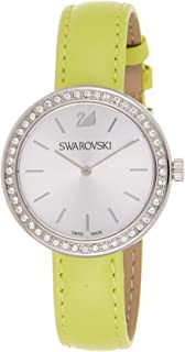 Swarovski Women's White Dial Leather Band Watch - 5095643