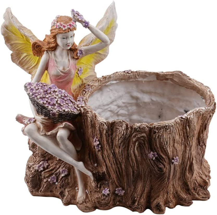 Dedication LONG-L Large Outdoor Flower Pots Planter Pot Angel Statues Special price with