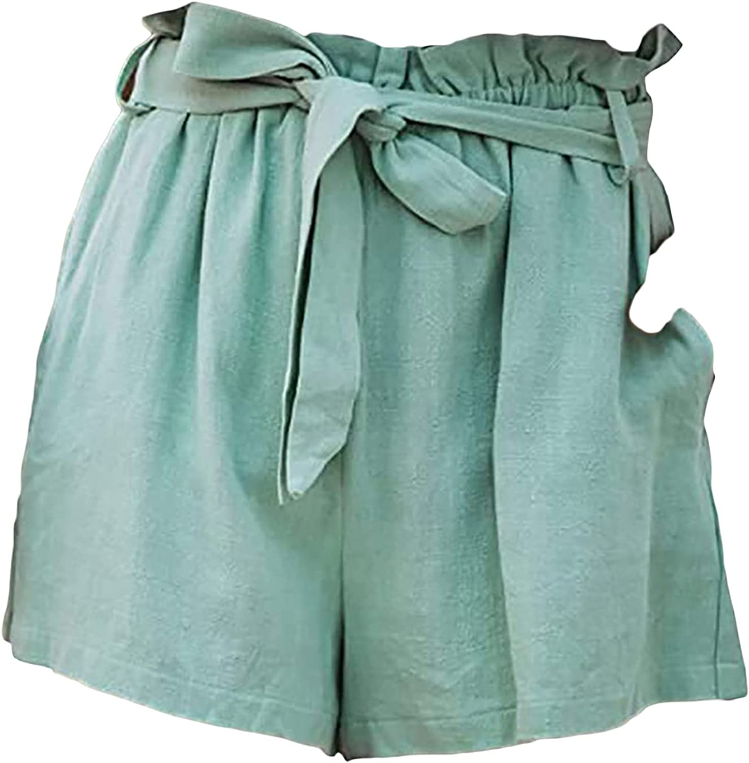 High Waist Bow Very popular! Tie Shorts for Women Ruffle S Complete Free Shipping Bag Paper