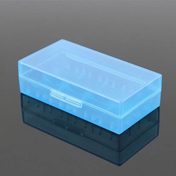 1 X Battery Storage Case Holder Battery Organizer For 18650 Or CR123A Battery Blue For Collecting Batteries By TheBigThumb