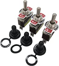 2 Years Warranty Ten-1122 Twidec//Heavy Duty Rocker Toggle Switch 20A 125V SPDT 3 Position 3 Pin ON//OFF//ON Switch with Metal Bat Waterproof Cap Pack of 3