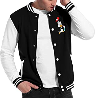 Hxuedan Men's Chilly Willy Penguin Double-Sided Print Baseball Uniform