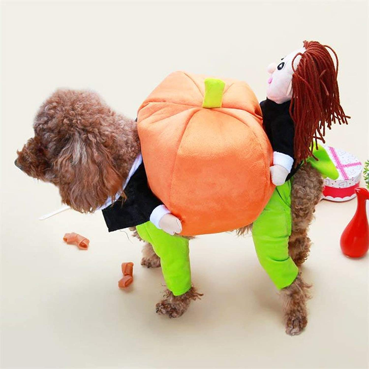 blueeSpace Pet Costume Dog Pumpkin Pets Suit Pets Clothing for Small Dogs and Cats Halloween Christmas Theme Party Costumes, L