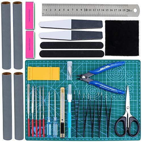 HSEAMALL Guandam Modell-Werkzeug-Set, Hobby-Modellbau, Handwerks-Set, Modellbauwerkzeuge, für Gundam Modellbau, Reparatur, Bandai Hobby, 31-teilig
