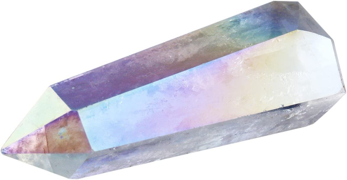 mookaitedecor Healing 67% OFF of fixed price Crystal Wands 6 Single Reiki Faceted specialty shop Point