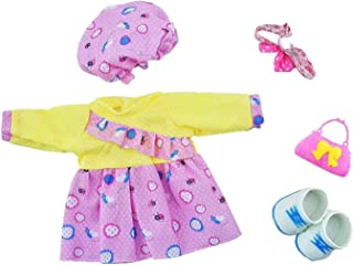 Huang Cheng Toys for 14-15 Inch Alive Lovely Baby Doll Reborn Newborn Clothes Dress Shoes Hat Headband and Bag