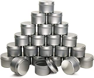 EricX Light Candle Tin 24 Piece, 4 oz, for Candle Making