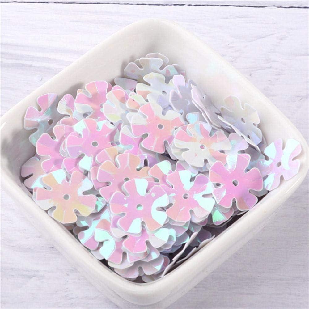 200pcs // sac 14mm 20mm blanc 3D cinq p/étales fleurs paillettes paillettes couture artisanat de mariage 14mm 200pcs v/êtements pour femmes accessoires de bricolage blanc mat