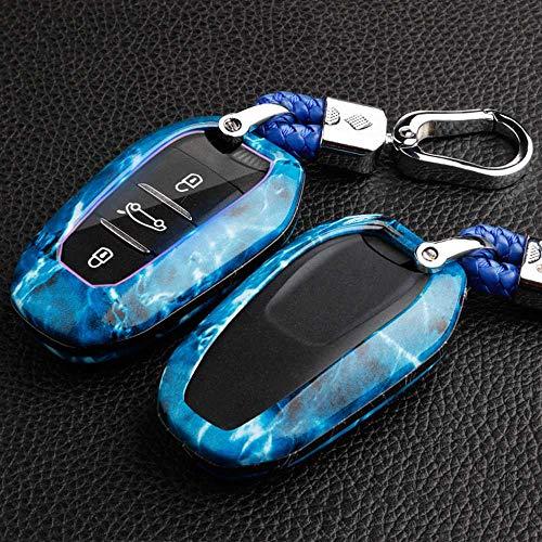 MIOAHD Funda para Llave de Coche, Carcasa para Llave, Llavero, Funda para Llave, para Citroen C4 Grand Xsara Picasso C5 Elysee C-Quartre C3 XR Berlingo Cactus Peugeot Remote Fob Dobla la Llave