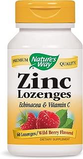 Nature's Way Zinc Lozenge with Echinacea & Vitamin C, Wild Berry Flavor, 60 Lozenges, Packaging may vary