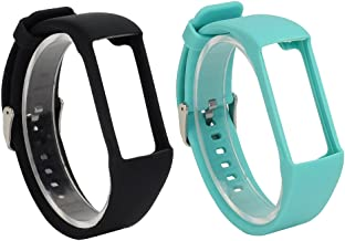 RuenTech 2Pcs Band for Polar A360 Replacement Bands, Soft Silicone Strap Sport Wristband Compatible with Polar A360 and A370 Fitness Tracker