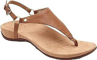 UULIKE Sandales Femme Plates,T-Sangle Comfy Été Bohémiennes Chaussures Plateforme Flip Flop Bouts Ouverts Tongs,Été Plage ...