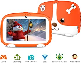 Tablet for Kids, Kids Tablet Parental Control & Kids Mode Pre-Installed Android 9.0 Tablet with WiFi Learning Games Camera Kids Tablet for Children Kid-Proof Silicone Case 7 inch Tablet 1G+16G