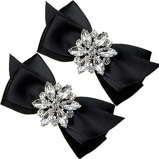 1 Pair Decorative Rhinestone Ribbon Bow Wedding Party Shoe Clip