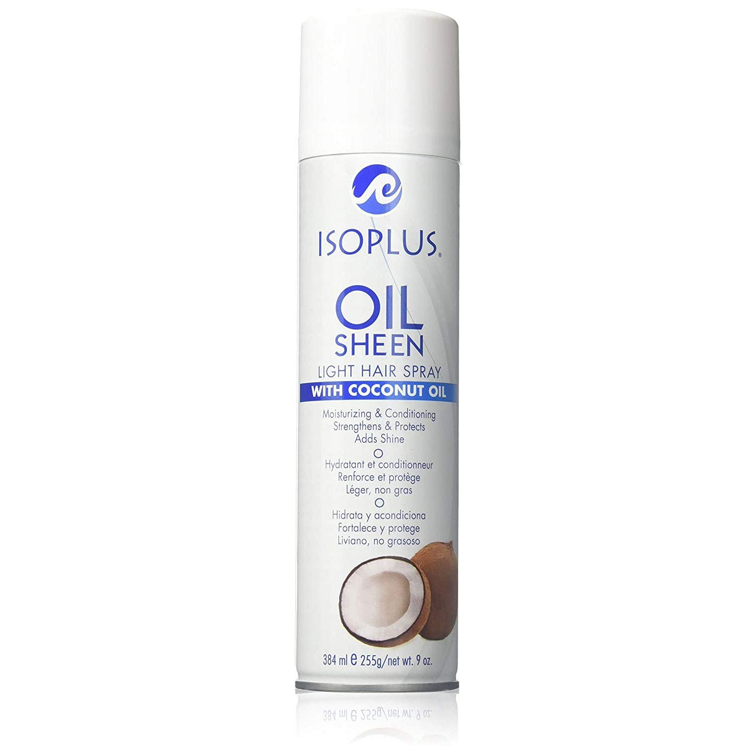 Isoplus Sales for sale Oil Sheen Light Hair with Oz. Baltimore Mall Coconut Spray 9