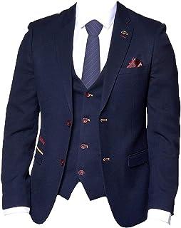 Marc Darcy Mens Formal Smart Blazer/Jacket JD4 - Navy Blue