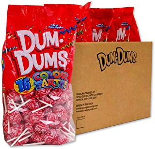 Dum Dums Red Strawberry 4-75 count bags