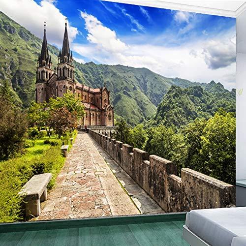 BHXIAOBAOZI Behang, fotobehang, aangepaste 3D-fotobehang, natuur, tv, sofa, achtergrond, naadloos wandpapier, voor woonkamer, tv, achtergrond, slaapkamer, wanddecoratie 250cm(W)×160cm(H)