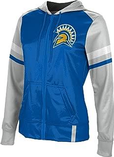 School Spirit Sweatshirt San Jose State University Mens Pullover Hoodie Ombre