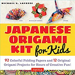 Japanese Origami Kit for Kids: 92 Colorful Folding Papers and 12 Original Origami Projects for Hours of Creative Fun! [Origami Book with 12 projects]