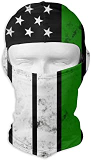 Balaclava Face Mask with Distressed India American Flag Print, Cycling Motorcyle Face Cover, Ski Hiking Neck Hood Full Face Mask White