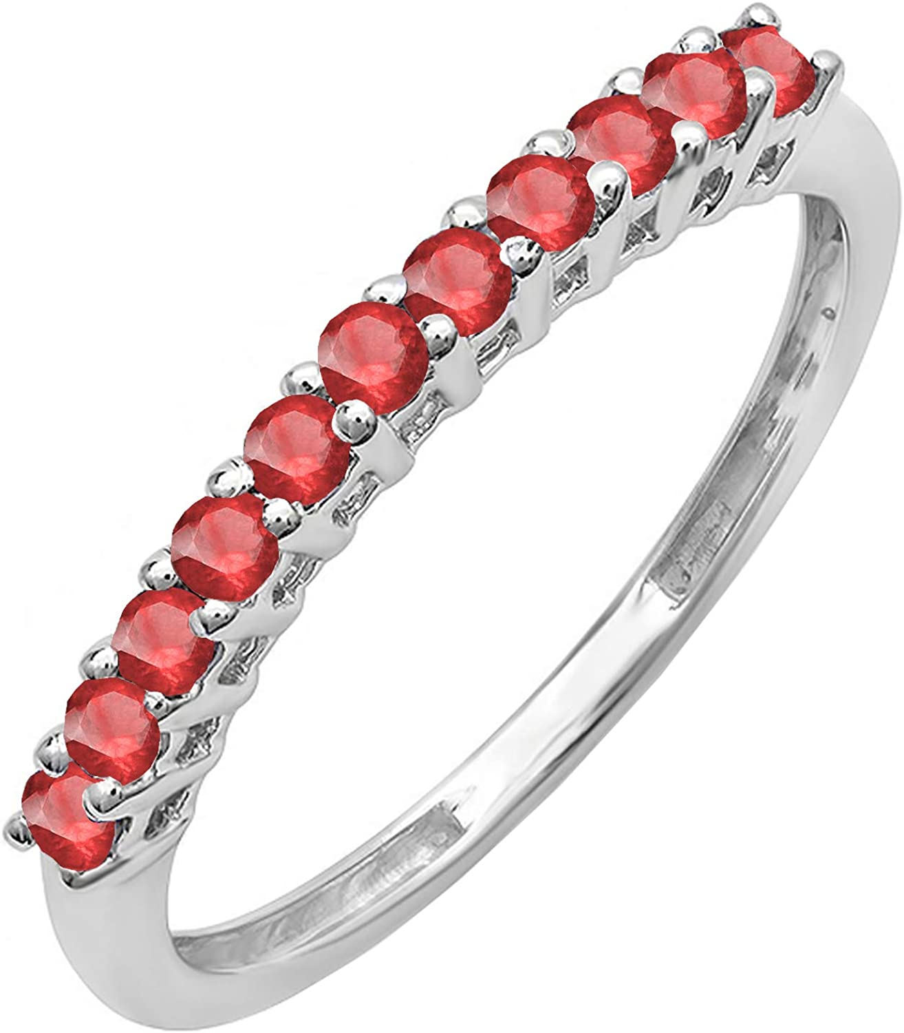 Dazzlingrock Collection 10K Round Anniversary Stackable 5% OFF Direct stock discount Gemstone