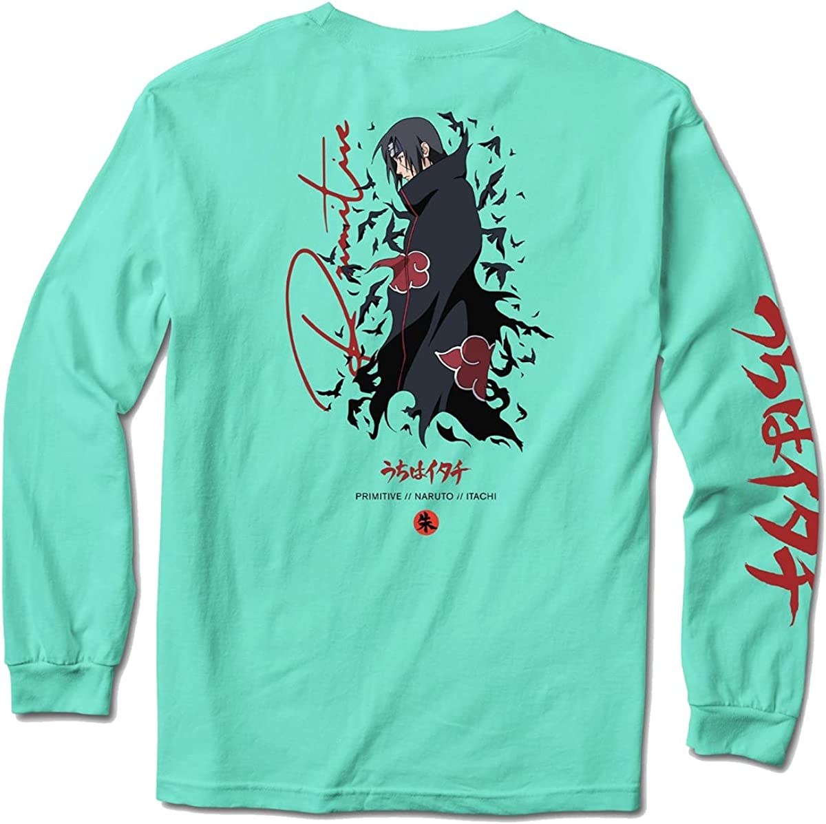 Primitive x Kansas City Mall Naruto Men's Crows T Long Celadon Cheap mail order specialty store Sleeve Shirt