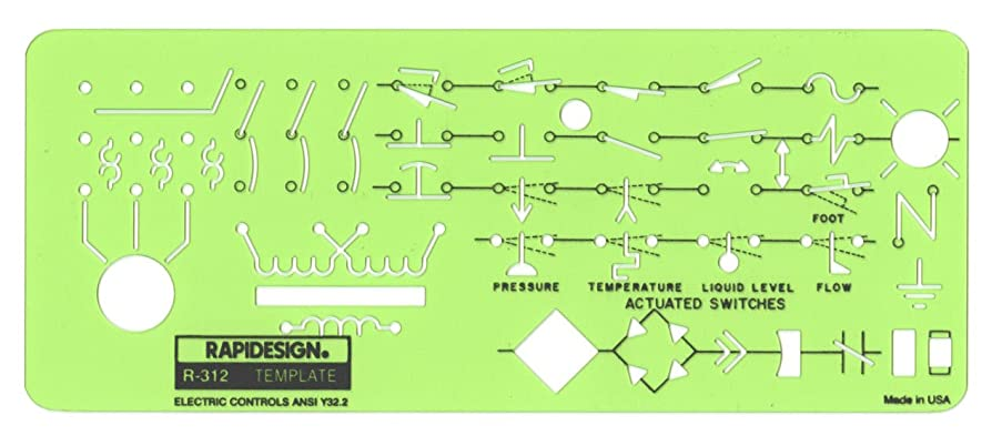 Rapidesign Electric Controls Template, 1 Each (R312)