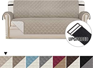 H.VERSAILTEX Reversible Sofa Slipcover Quilted Furniture Protector with 2
