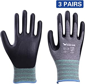 Working Gloves for Women and Men, Pine Tree Tools Bamboo Gloves Nitrile Protective Coating Against Cuts Barehand Sensitivity Work Glove for Gardening, Fishing, Restoration Work Thin Safety