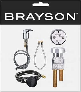 Salon Shampoo UPC Certified Chrome Faucet Vacuum Breaker Hose Kit SU-97