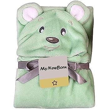 My NewBorn Super Soft Blanket Cum Wrapper for Babies (Green-Meow)
