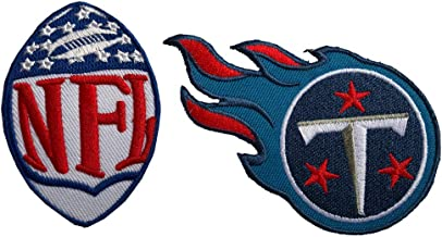 Hipatch Tennessee Titans Embroidered Patch Iron on Logo Vest Jacket Cap Hoodie Backpack Patch Iron On/sew on Patch Set of 2Pcs